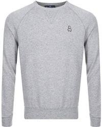 Psycho Bunny - Crew Neck Larne Sweatshirt Grey - Lyst