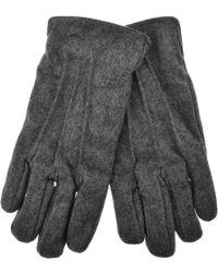 GANT - Melton Gloves Grey - Lyst