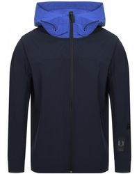 Armani Exchange - Full Zip Hooded Jacket Navy - Lyst