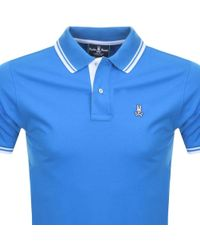 Psycho Bunny - Twin Tipped Polo T Shirt Blue - Lyst