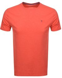 Tommy Hilfiger - Icon T Shirt Red - Lyst