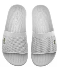 Lacoste - Croco Sliders White - Lyst