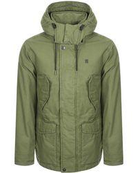 G-Star RAW Raw Vodan Padded Hooded Jacket Green