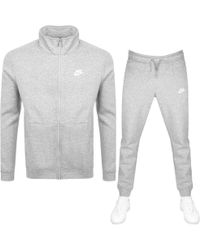 Nike - Standard Fit Tracksuit Gray - Lyst