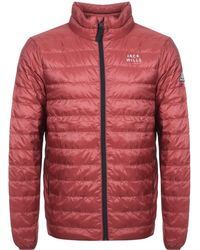 Jack Wills - Nevis Lightweight Down Jacket Red - Lyst