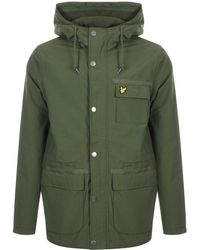 Lyle & Scott Full Zip Fleece Lined Jacket Green