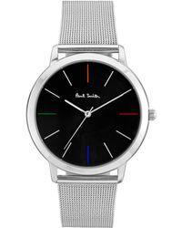 ea5a99aa416 Lyst - Paul Smith Mens Silver Classic Watch in Black for Men