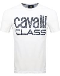 Just Cavalli - Cavalli Class Logo T Shirt White - Lyst