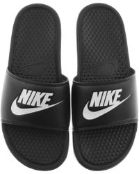 Nike - Benassi Jdi Sliders Black - Lyst