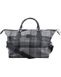Barbour - Check Explorer Bag Grey - Lyst