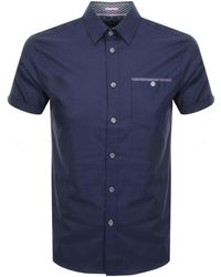Ted Baker - Tall Cotton Short Sleeved Shirt - Lyst