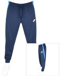 abeb1e8fc310 Lyst - Nike Air Hybrid Jogging Pants in Blue for Men