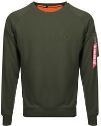 Alpha Industries - X Fit Sweatshirt Green - Lyst