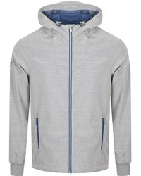 Superdry - Echo Beach Cagoule Jacket Grey - Lyst
