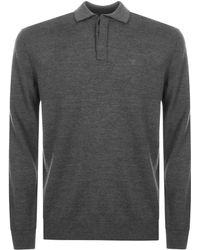 Armani - Emporio Knit Polo Jumper Grey - Lyst