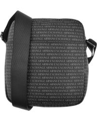 496a494aea89 Armani Exchange - Logo Shoulder Bag Black - Lyst