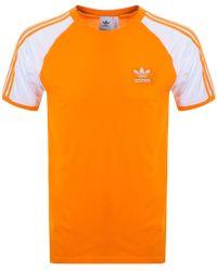 adidas - Originals California T Shirt Orange - Lyst