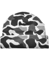 b54051be adidas - Originals Camouflage Beanie Hat Grey - Lyst