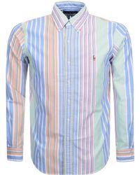 Ralph Lauren - Classic Fit Striped Oxford Shirt - Lyst