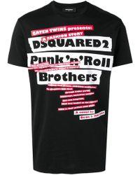 DSquared² - Pun N Roll T-shirt - Lyst