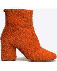 Maison Margiela - Embossed Calfhair 'socks' Ankle Boots - Lyst