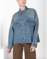 MM6 by Maison Martin Margiela - Oversized Denim Shirt - Lyst