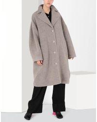 MM6 by Maison Martin Margiela - Cocoon Jersey Coat - Lyst
