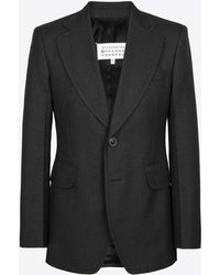 Maison Margiela - Blazer With Flap Pockets - Lyst