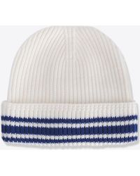 Maison Margiela - Stitch And Stripe Wool Beanie - Lyst