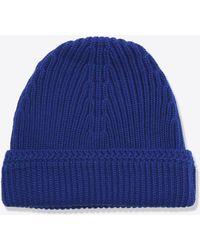 Maison Margiela - Bonnet souple en tricot de laine - Lyst
