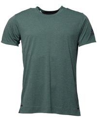 adidas - Freelift Climachill Speed Stripes Top Green - Lyst
