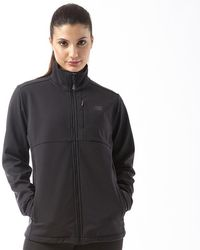 New Balance - Softshell Wind And Water Resistant Running Jacket Black - Lyst