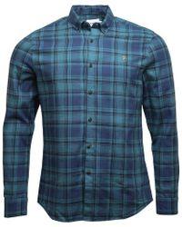 Farah - Waithe Slim Fit Shirt Sea Green - Lyst