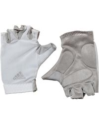 adidas - Climacool Training Gloves Core White/clear Grey - Lyst