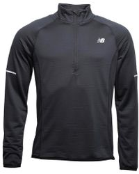 New Balance - Heat Thermal Reflective 1/2 Zip Running Top Black - Lyst