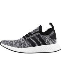 adidas Originals - Nmd_r2 Primeknit Trainers Grey/core Black/footwear White - Lyst