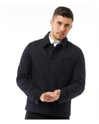 Ted Baker - Huey Wool Jacket With Patch Pockets Navy - Lyst