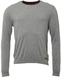 Timberland - Eastham Crew Neck Jumper Medium Grey Marl - Lyst