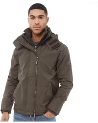 Superdry - Pop Zip Hooded Arctic Sd-windcheater Jacket Army/black - Lyst