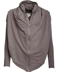 Converse | Draped Full Zip Hoody Charcoal Grey | Lyst