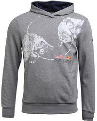 PUMA - F1 Red Bull Racing Graphic Hoody Medium Grey Heather - Lyst
