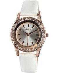 Oasis - Diamante Watch White - Lyst