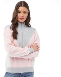 Juicy Couture - Track Terry Zip Up Sweat Palisades Pink/cozy Vanilla - Lyst