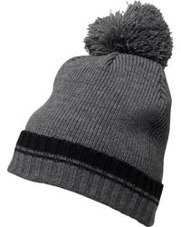 82c05994fab French Connection - Plain Knit Beanie Black charcoal Melange - Lyst