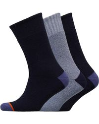 Weatherproof - Three Pack Thermal Crew Socks Navy - Lyst