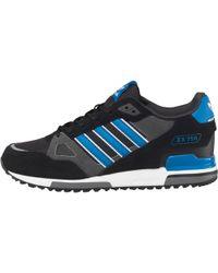 efaaf5a8d2 adidas Originals Zx 750 Trainers Bluebird white dark Slate in Blue ...