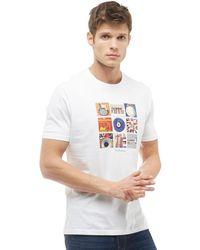 Ben Sherman - Music Symbols Graphic T-shirt White - Lyst