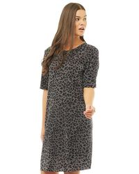 ONLY - Liga 2.0 T-shirt Dress Black Olive/liga Leo - Lyst