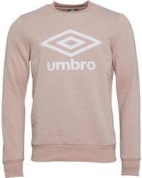 Umbro - Active Style Sweat Desert Pink/white - Lyst