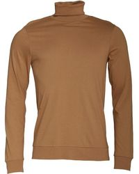 French Connection - Roll Neck Long Sleeve Top Camel - Lyst